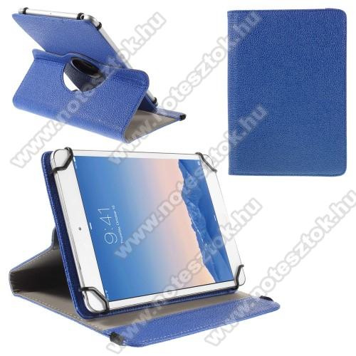SAMSUNG SM-T545 Galaxy Tab Active Pro (Wi-Fi)UNIVERZÁLIS notesz / mappa tok - álló, oldalra nyíló, asztali tartó funkcióval, 360°-ban elforgatható - SÖTÉTKÉK - 9-10