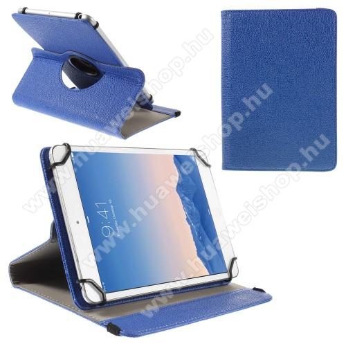 HUAWEI MediaPad M5 Lite 10UNIVERZÁLIS notesz / mappa tok - álló, oldalra nyíló, asztali tartó funkcióval, 360°-ban elforgatható - SÖTÉTKÉK - 9-10