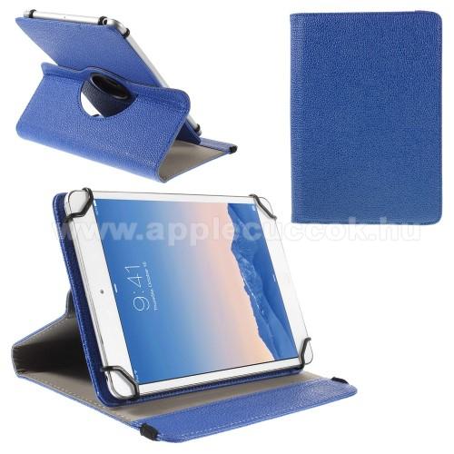 UNIVERZÁLIS notesz / mappa tok - álló, oldalra nyíló, asztali tartó funkcióval, 360°-ban elforgatható - SÖTÉTKÉK - 9-10