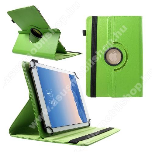 ASUS Memo Pad 10.1 ME301T-1B015AUNIVERZÁLIS notesz / mappa tok - álló, oldalra nyíló, gumis záródás, asztali tartó funkcióval, 360°-ban elforgatható - ZÖLD - 9-10