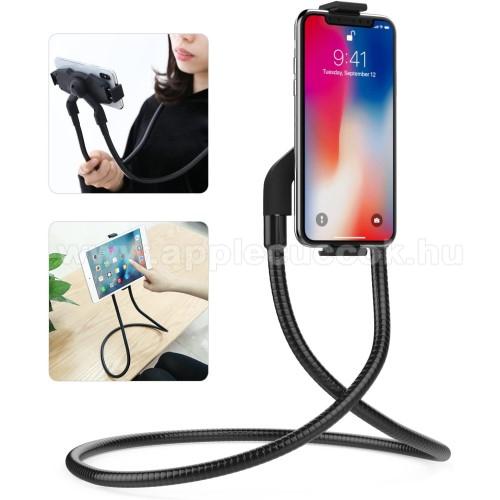 UNIVERZÁLIS nyakba akasztható tartó / asztali tartó állvány - 360°-ban forgatható, állítható, asztali tartó - 4-10.5
