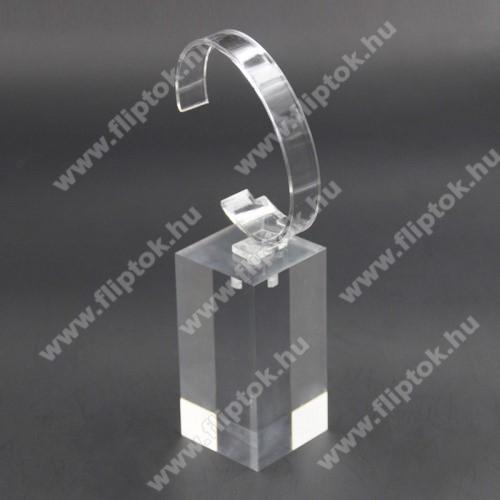 EVOLVEO SPORTWATCH M1SUNIVERZÁLIS Óratartó állvány / asztali tartó - ÁTLÁTSZÓ - műanyag, méret: 6cm x 4cm x 4cm