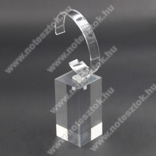 ZTE Watch GTUNIVERZÁLIS Óratartó állvány / asztali tartó - ÁTLÁTSZÓ - műanyag, méret: 6cm x 4cm x 4cm