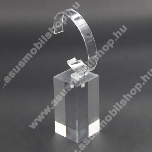 ASUS ZenwatchUNIVERZÁLIS Óratartó állvány / asztali tartó - ÁTLÁTSZÓ - műanyag, méret: 6cm x 4cm x 4cm