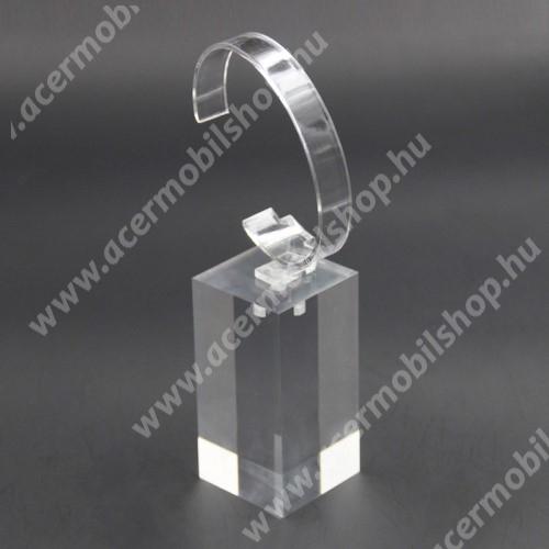 ACER Iconia Tab A1-811 UNIVERZÁLIS Óratartó állvány / asztali tartó - ÁTLÁTSZÓ - műanyag, méret: 6cm x 4cm x 4cm