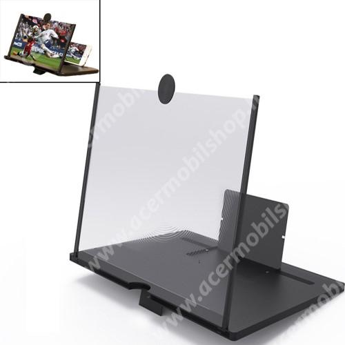 """ACER beTouch T500 UNIVERZÁLIS összecsukható asztali telefon tartó, állvány / nagyító - 10""""-ig nagyítja fel a képernyőt - FEKETE"""
