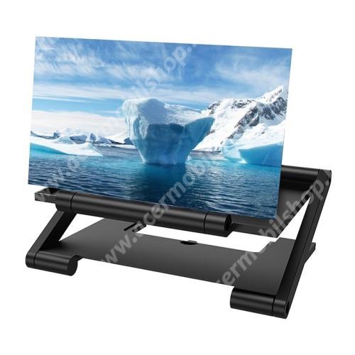 """ACER Liquid X1 UNIVERZÁLIS összecsukható asztali telefon tartó, állvány / nagyító - 10""""-ig nagyítja fel a képernyőt, 205 x 145 x 14mm - FEKETE"""