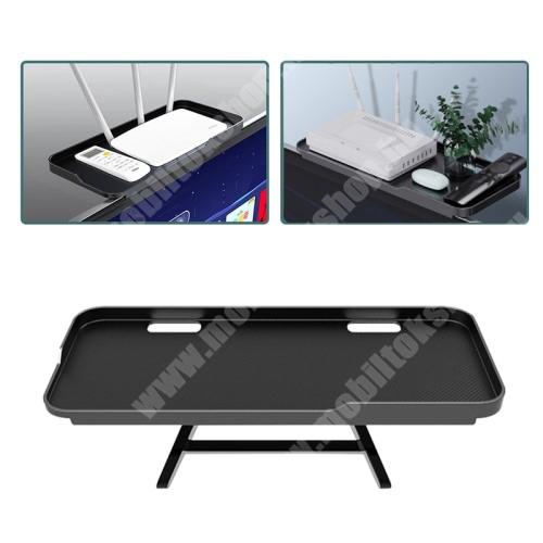 LG G4c (H525N) UNIVERZÁLIS polc monitorra / TV-re - 1db, állítható, csúszásgátló, összecsukható, 1kg-ig terhelhető, kábelkivezető, 30 x 12.5 x 2cm - FEKETE