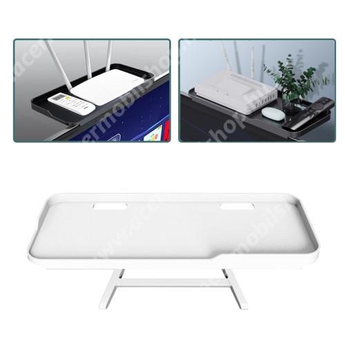 ACER Liquid Z3 UNIVERZÁLIS polc monitorra / TV-re - 1db, állítható, csúszásgátló, összecsukható, 1kg-ig terhelhető, kábelkivezető, 30 x 12.5 x 2cm - FEHÉR