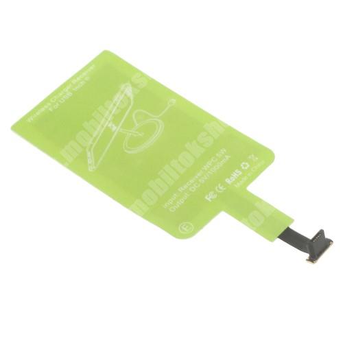SAMSUNG GT-C3350 XCover II UNIVERZÁLIS QI Wireless modul vezeték nélküli tötléshez - FORDÍTOTT! microUSB csatlakozóval rendelkező készülékekhez!