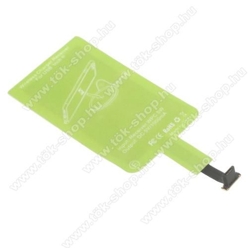 UNIVERZÁLIS QI Wireless modul vezeték nélküli tötléshez - FORDÍTOTT! microUSB csatlakozóval rendelkező készülékekhez! (Fogadóegység)