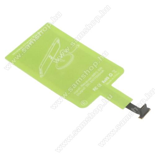 SAMSUNG GT-C3330 Champ 2UNIVERZÁLIS QI Wireless modul vezeték nélküli tötléshez - FORDÍTOTT! microUSB csatlakozóval rendelkező készülékekhez!