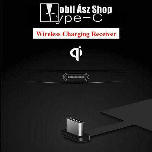 HUAWEI P9UNIVERZÁLIS QI Wireless modul vezeték nélküli töltéshez - USB 3.1 Type C csatlakozóval (Fogadóegység)
