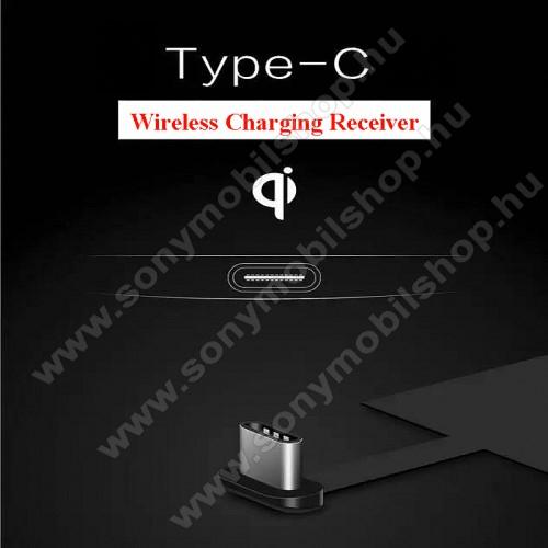 SONY Xperia 10 II (XQ-AU5) (2020)UNIVERZÁLIS QI Wireless modul vezeték nélküli töltéshez - USB 3.1 Type C csatlakozóval (Fogadóegység)