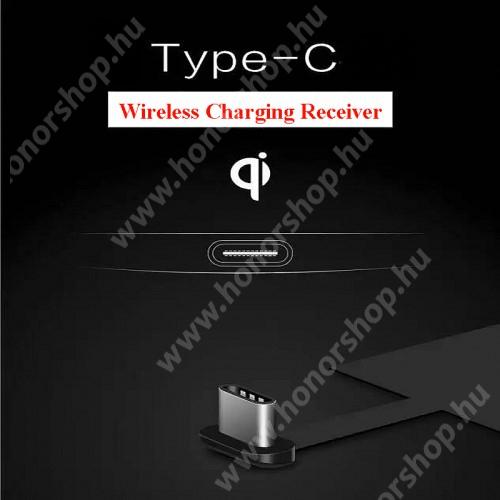 HUAWEI P20 Lite (2018) UNIVERZÁLIS QI Wireless modul vezeték nélküli töltéshez - USB 3.1 Type C csatlakozóval (Fogadóegység)