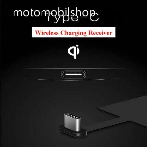 MOTOROLA Moto G8 Plus UNIVERZÁLIS QI Wireless modul vezeték nélküli töltéshez - USB 3.1 Type C csatlakozóval (Fogadóegység)