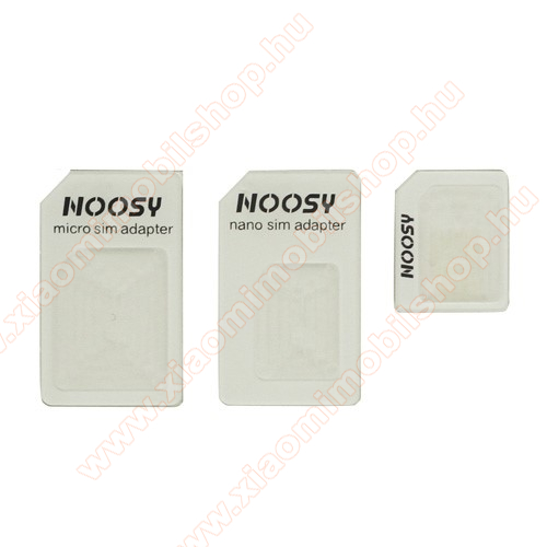 UNIVERZÁLIS SIM adapter - Nano SIM kártyát Micro SIM és normál méretű kártyára alakítja át, SIM tűvel együtt