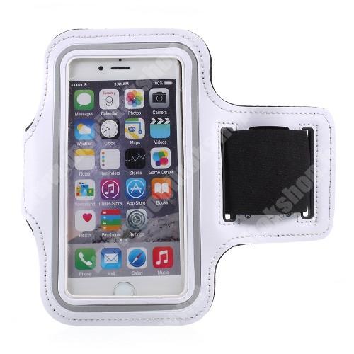 Blackphone UNIVERZÁLIS SPORT tok / karpánt - FEHÉR - állítható, fülhallgató kivezetés, 27cm hosszú karpánt, belső méret: 150 x 80 mm