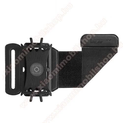 UNIVERZÁLIS SPORT tok / karpánt - FEKETE - 180°-ban forgatható, max 162 x 77 x 9mm méretű készülékekhez