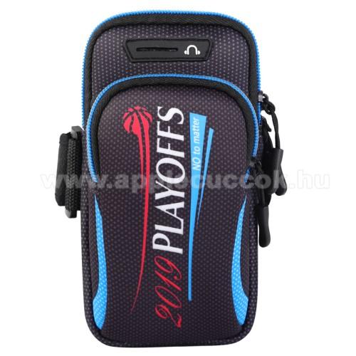 UNIVERZ�LIS Sport tok / karp�nt - FEKETE / FEH�R - �ll�, cipz�r, t�bb fakkos, 28cm hossz� karp�nt, f�lhallgat� ny�l�s - 190 x 90mm