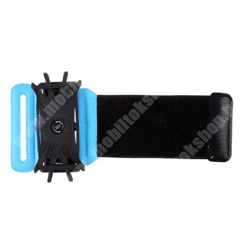 Blackphone UNIVERZÁLIS SPORT tok / karpánt - FEKETE / KÉK - 360°-ban forgatható, min. 135 x 65mm, max. 170 x 85mm méretű készülékekhez