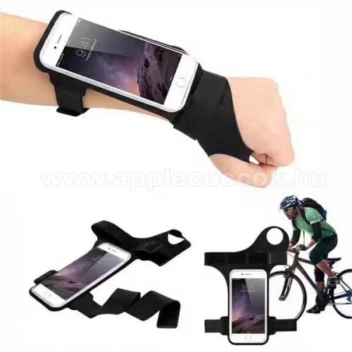 APPLE iPhone 6 PlusUNIVERZÁLIS SPORT tok / karpánt - FEKETE - vízálló, ujjnyílással, 6