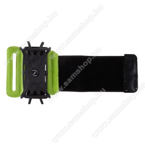 SAMSUNG SGH-i325 AceUNIVERZÁLIS SPORT tok / karpánt - FEKETE / ZÖLD - 360°-ban forgatható, min. 135 x 65mm, max. 170 x 85mm méretű készülékekhez