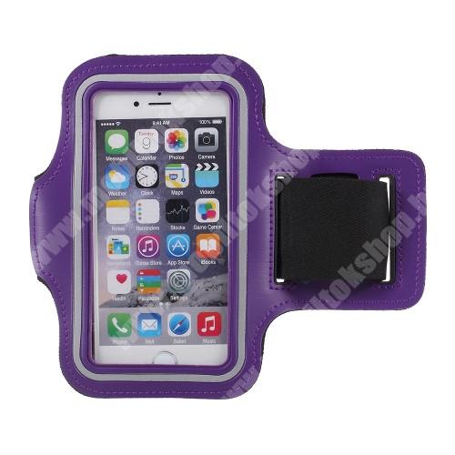 Blackphone UNIVERZÁLIS SPORT tok / karpánt - LILA - állítható, fülhallgató kivezetés, 27cm hosszú karpánt, belső méret: 150 x 80 mm