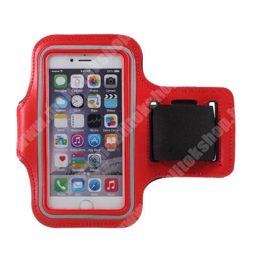Blackphone UNIVERZÁLIS SPORT tok / karpánt - PIROS - állítható, fülhallgató kivezetés, 27cm hosszú karpánt, belső méret: 150 x 80 mm
