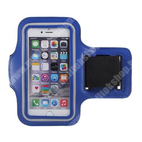 Blackphone UNIVERZÁLIS SPORT tok / karpánt - SÖTÉTKÉK - állítható, fülhallgató kivezetés, 27cm hosszú karpánt, belső méret: 150 x 80 mm