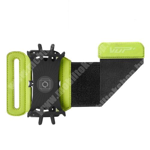 Blackphone UNIVERZÁLIS SPORT tok / karpánt - ZÖLD - 180°-ban forgatható, max 162 x 77 x 9mm méretű készülékekhez