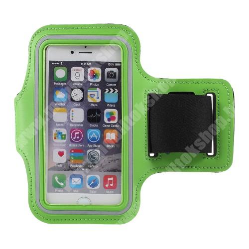 Blackphone UNIVERZÁLIS SPORT tok / karpánt - ZÖLD - állítható, fülhallgató kivezetés, 27cm hosszú karpánt, belső méret: 150 x 80 mm