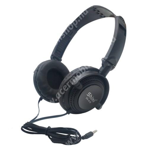 ACER Iconia Tab 8 A1-840FHD UNIVERZÁLIS sztereó fejhallgató / headset - 3.5mm Jack, mikrofon, multifunkciós gomb, 40mm hangszóró, 90°-ban összecsukható, 1,2m hosszú vezeték - FEKETE
