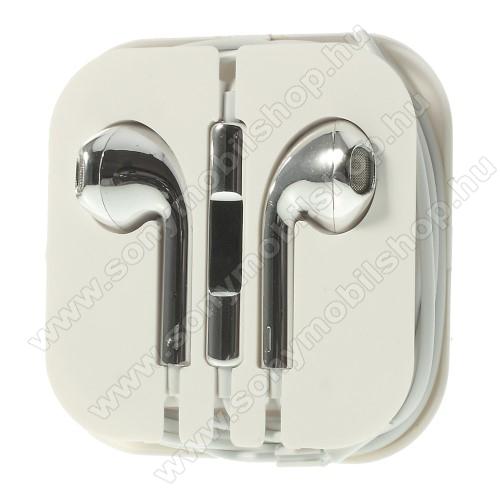 SONY Xperia M DUALUniverzális sztereo headset - 3,5mm jack csatlakozó, felvevő gombos - EZÜST