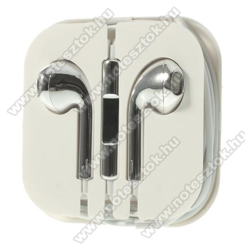 OPPO R17Univerzális sztereo headset - 3,5mm jack csatlakozó, felvevő gombos - EZÜST
