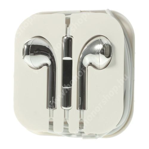 HUAWEI Honor 9 Univerzális sztereo headset - 3,5mm jack csatlakozó, felvevő gombos - EZÜST