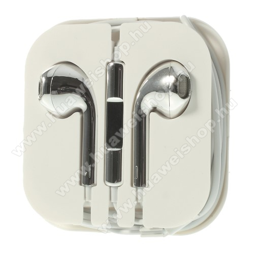 HUAWEI Honor V10Univerzális sztereo headset - 3,5mm jack csatlakozó, felvevő gombos - EZÜST