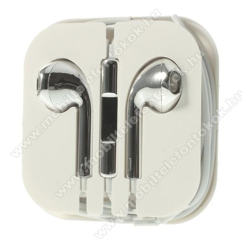 ALCATEL 7Univerzális sztereo headset - 3,5mm jack csatlakozó, felvevő gombos - EZÜST