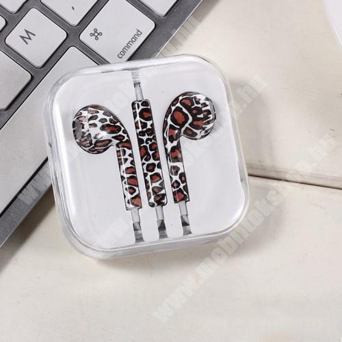 PRESTIGIO MultiPad 8.0 PRO DUO UNIVERZÁLIS SZTEREO headset - 3,5mm jack csatlakozó, felvevő gombos - LEOPÁRD MINTÁS