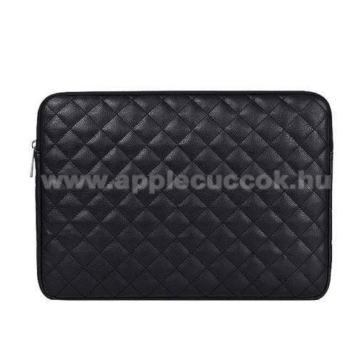 APPLE iPad Pro 12.9 (2017)UNIVERZÁLIS Tablet / Laptop tok / táska - FEKETE - ROMBUSZ MINTÁS - PU bőr, szövet, bársony belső, ütődésálló, vízálló - ERŐS VÉDELEM! - 15.6