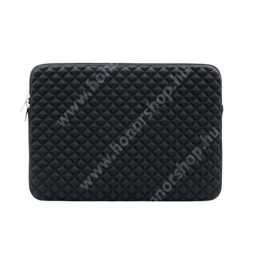 """UNIVERZÁLIS Tablet / Laptop tok / táska - FEKETE - Szövet, bársony belső, antisztatikus, ütődésálló, vízálló - ERŐS VÉDELEM! - 11""""-os készülékekig használható, 310 x 215 x 30mm"""