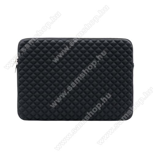 SAMSUNG Galaxy Tab 2 10.1 (P5100)UNIVERZÁLIS Tablet / Laptop tok / táska - FEKETE - Szövet, bársony belső, antisztatikus, ütődésálló, vízálló - ERŐS VÉDELEM! - 11