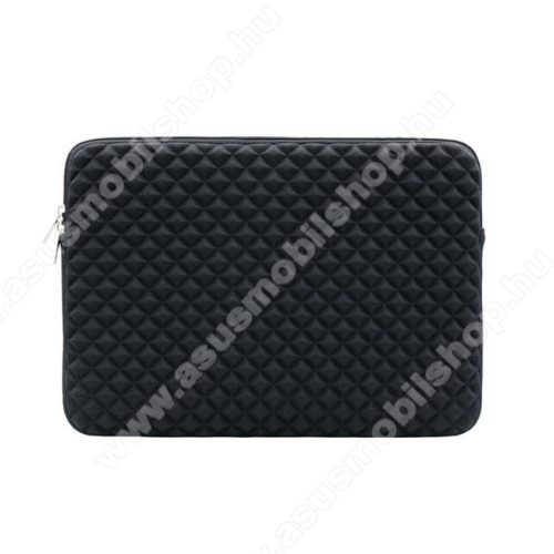 UNIVERZÁLIS Tablet / Laptop tok / táska - FEKETE - Szövet, bársony belső, antisztatikus, ütődésálló, vízálló - ERŐS VÉDELEM! - 11