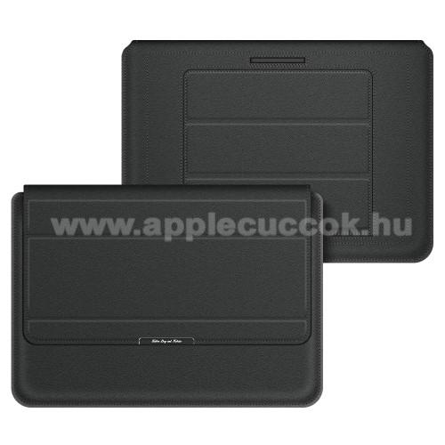 APPLE iPad Pro 12.9 (2017)UNIVERZÁLIS Tablet / Laptop tok / táska - FEKETE - vízálló PU bőr, mágneses záródás, asztali tartó funkciós, csukló alátámasztás - 13