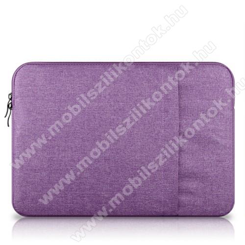 UNIVERZÁLIS Tablet / Laptop tok / táska - LILA - szövet, bársony belső, 2 különálló zsebbel, ütődésálló - ERŐS VÉDELEM! - 13
