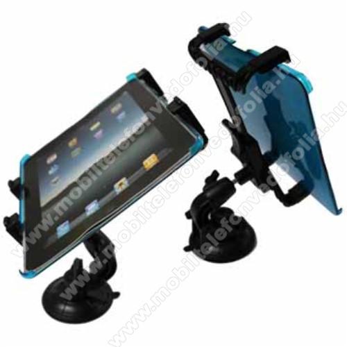 HUAWEI MediaPad T5 10UNIVERZÁLIS TABLET PC gépkocsi / autó tartó - tapadókorongos / szélvédőre hyelezhető, 360°-ban elforgatható, 145mm / 105mm - 195mm-ig állítható, 7-12