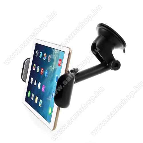 SAMSUNG Galaxy Tab 2 10.1 (P5100)UNIVERZÁLIS TABLET PC gépkocsi / autós tartó - tapadókorongos / szélvédőre helyezhető, 360°-ban elforgatható, 255mm / 155mm - 195mm-ig állítható, 7-15