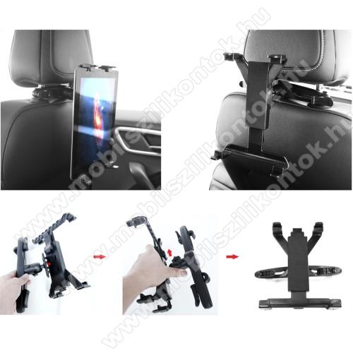 UNIVERZÁLIS tablet PC gépkocsi / autós tartó - 360°-ban elforgatható, fejtámlára szerelhető tartóval, 7-12