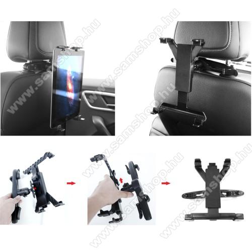 SAMSUNG Galaxy Tab A 8.0 (2017) (SM-T380)UNIVERZÁLIS tablet PC gépkocsi / autós tartó - 360°-ban elforgatható, fejtámlára szerelhető tartóval, 7-12