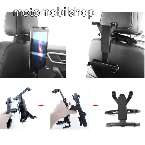 """MOTOROLA Xoom 2 Media Edition (MZ608) UNIVERZÁLIS tablet PC gépkocsi / autós tartó - 360°-ban elforgatható, fejtámlára szerelhető tartóval, 7-12""""-os készülékekig - FEKETE"""